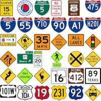 Highway Road Signs and Meaning