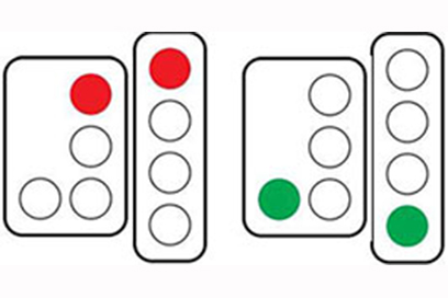 B Signal with Other Vehicle Trafic Light Sign Meaning