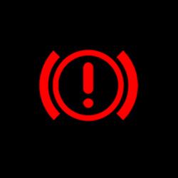 bmw x5 hand brake system warning light