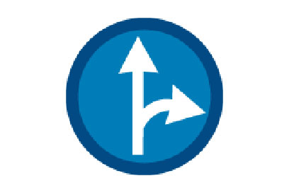 Go Ahead or Right - Direction Signs
