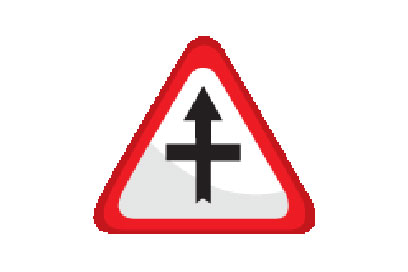 Intersection Ahead - Direction Signs