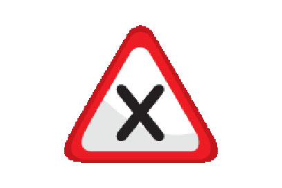 Intersection With Right Priority - Direction Signs