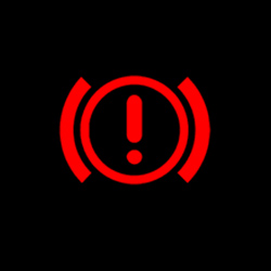 isuzu d max hand brake system warning light