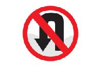 No U-Turn - Direction Signs