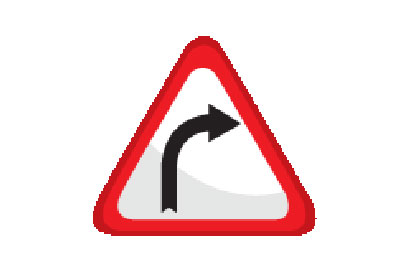 Wide Cure Right - Direction Signs