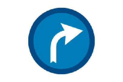 Turn Right Ahead - Direction Signs