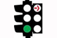 Red Turning Arrow - Traffic Lights Signs Meaning
