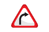 Right Bend Ahead - Direction Signs