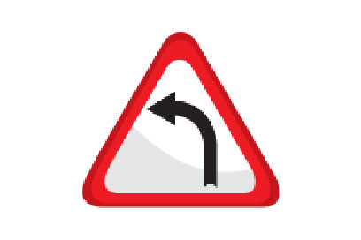 Left Bend Ahead -Direction Signs