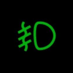 dodge journey front fog indicator light