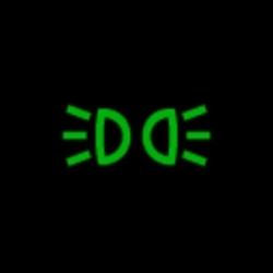 ford escape headlight on indicator light