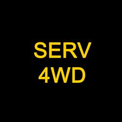 Jeep Wrangler Service 4WD Warning Symbol
