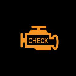 acura RDX engine check malfunction indicator warning light
