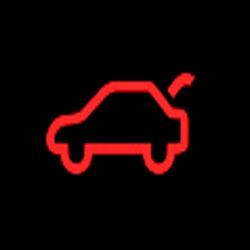 Chrysler Pacifica Hybrid liftgate open warning light