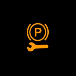 chrysler pacifica hybrid service electric parking brake warning light