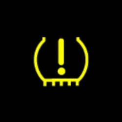 GMC Acadia tire pressure monitoring system (TPMS) warning light