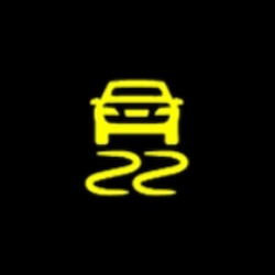 GMC Yukon electronic stability control active warning light
