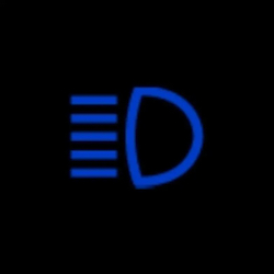 honda civic high beam indicator light