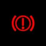 honda cR v handbrake brake system warning light