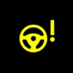 Jaguar E PACE electric power steering fault warning light