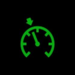 jaguar XE cruise control indicator light