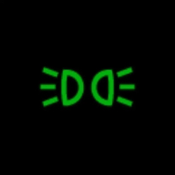 audi RS5 headlight on indicator light