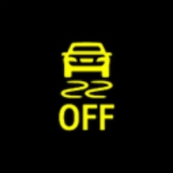 BMW 5 series electronic stability control off warning light