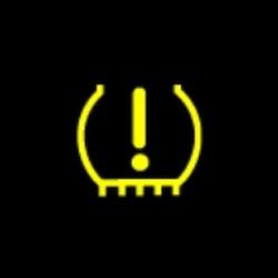 fiat panda cross tire pressure monitoring system(TPMS) warning light
