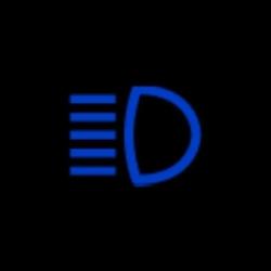 mercedes benz CLA high beam indicator light