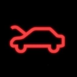 mercedes benz CLA hood open warning light