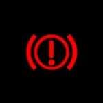 mitsubishi outlander phev brake warning light
