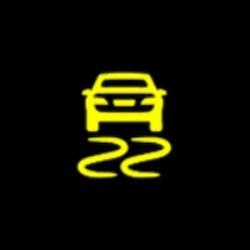 mitsubishi outlander phev electronic stability control active warning light