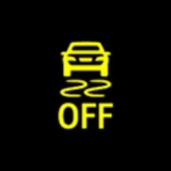 mitsubishi outlander phev electronic stability control off warning light